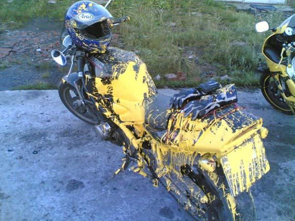 Как покрасить мотоцикл своими руками